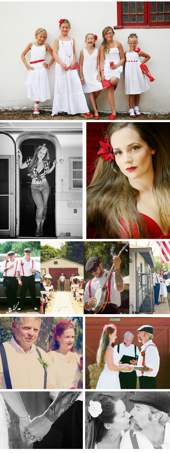 vintage wedding with sexy dressing room photos and airstream
