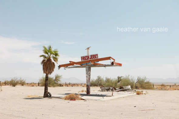 americana remains in the desert of route 66 vintage gas station