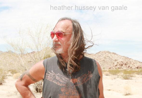 biker hippie man from the 60s cool senior citizen