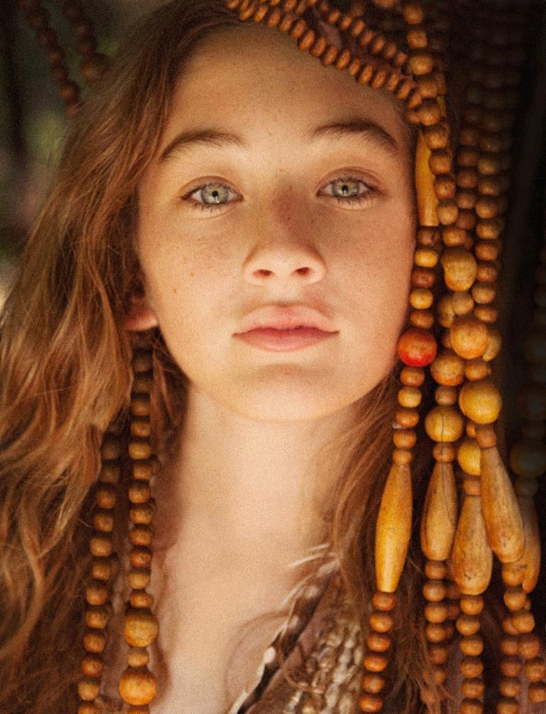 sophia Feinberg, hippie girl, tropical, bohemian kid, blue lagoon, kids editorial, heather van gaale, oc photo studio,
