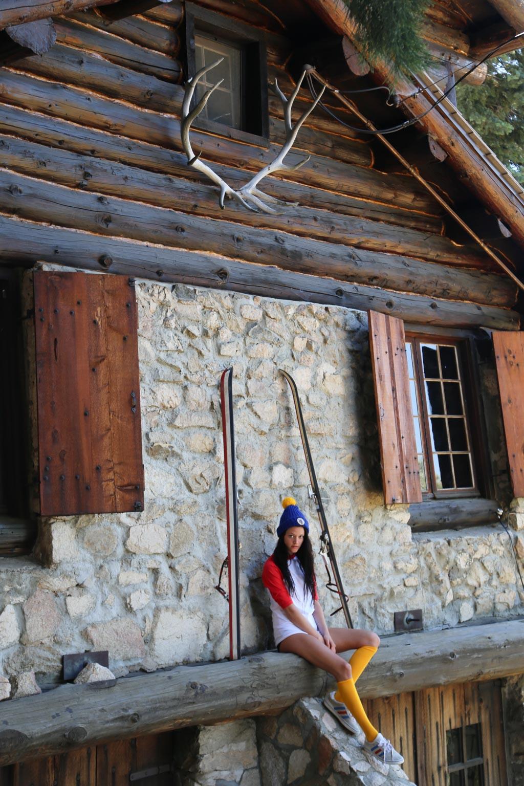 fashion editorial vintage ski cabin lodge by heather van gale
