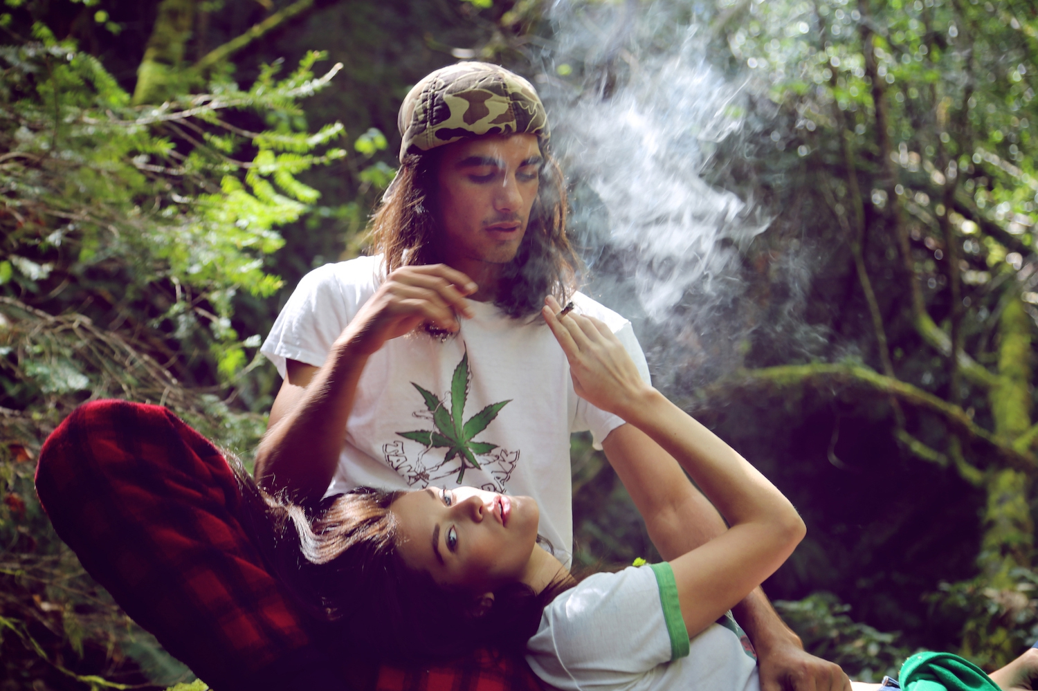 Emerald Triangle, hippie couple, green, eco, humboldt, prop 215, legalization, marijuana, cannabis,millennials, camping, smoking weed, fashion, editorial, high times
