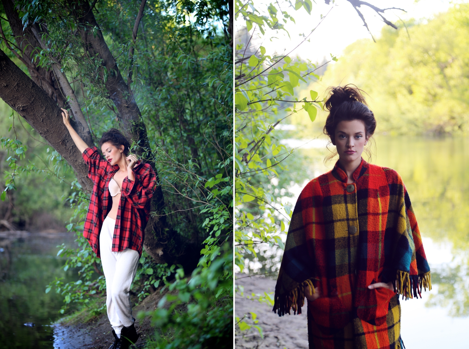 Russian-River-Travel-Editorial, russian river, fashion editorial, fall fashion, plaids, tartan, fashion blogger, heather van gaale, travel blog, fashion blog, fashion photographer orange county,
