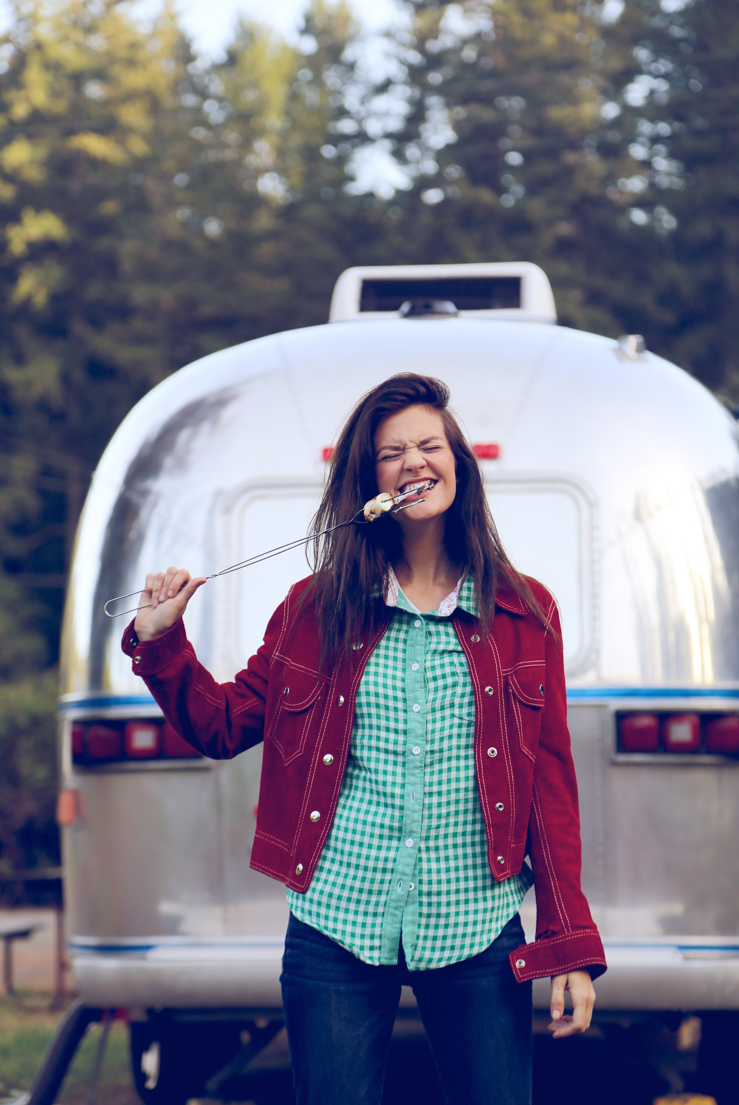 airstream,camping,clamping,editorial,redwoods,national park, california,northern coast,emerald triangle,amber flowers, heather van gaale, lifestyle, camping editorial, brunette,lifestyle,airstream,millennial,