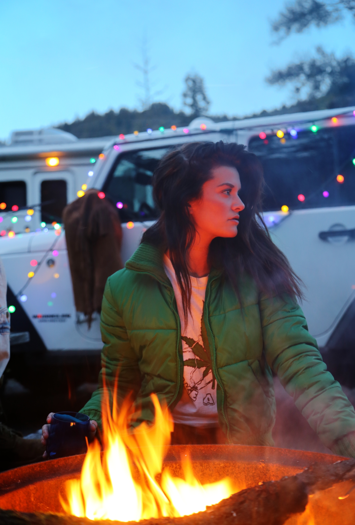 camp fire, clamping, millennial, travel photographer, travel editorial, campfire , redwoods camping, national park,