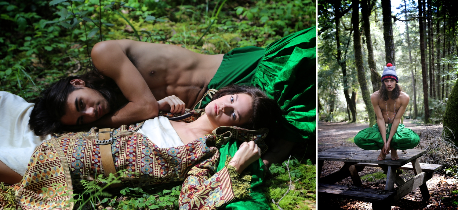 hippie couple, bohemian, fashion, editorial, humboldt, green, young love, heather van gaale, photographer, blog,