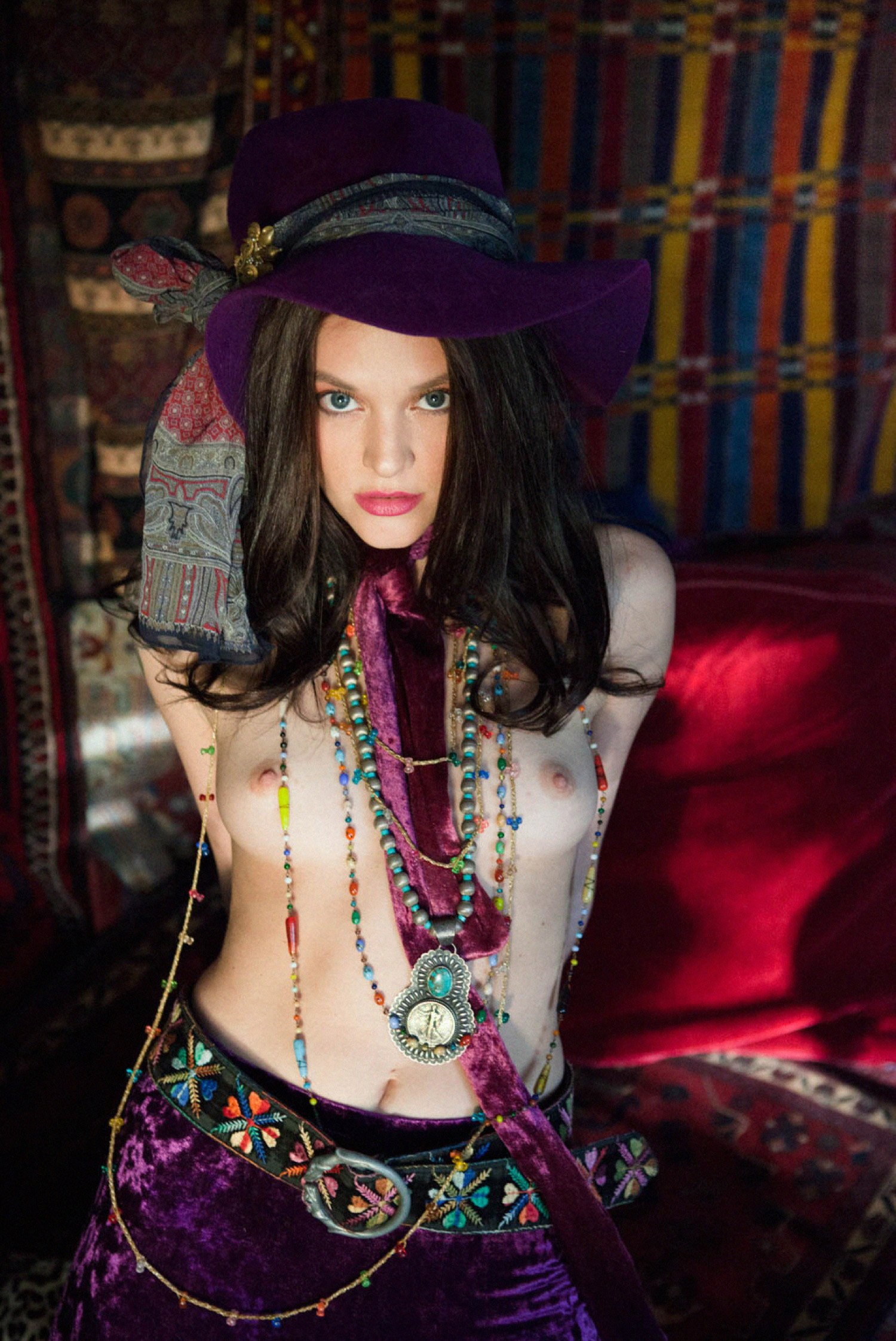 hippie bohemian fashion tips topless janice joplin style shot by photographer heather van gaale