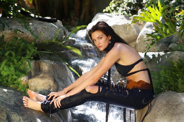tropical editorial by heather van gaale or model with wet hair