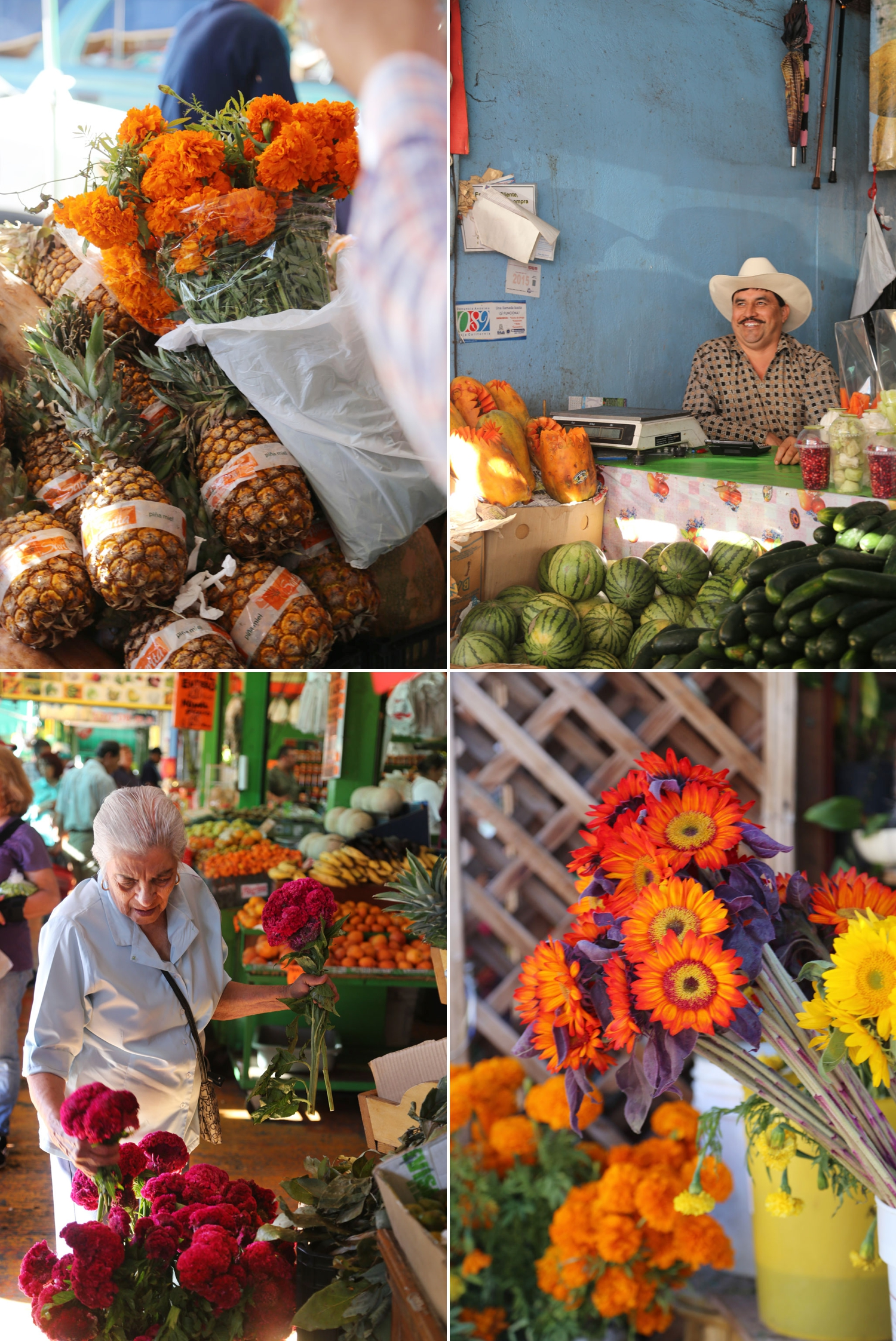 mercado hidalgo market in tijuana vendors flowers and produce